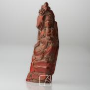 Paire de cornes sculptées