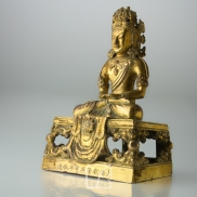 Statuette d'Amitayus en bronze doré