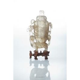Vase couvert en quartz