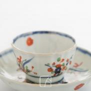 Sorbet et son présentoir en porcelaine imari, Kangxi