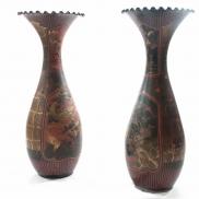 Paire de grands vases en porcelaine, Japon, époque Meiji