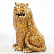 Tigre en céramique, Japon, 19ème