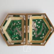 Paire de raviers, époque Kangxi