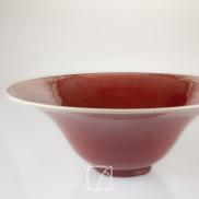 Paire de bols en porcelaine sang-de boeuf